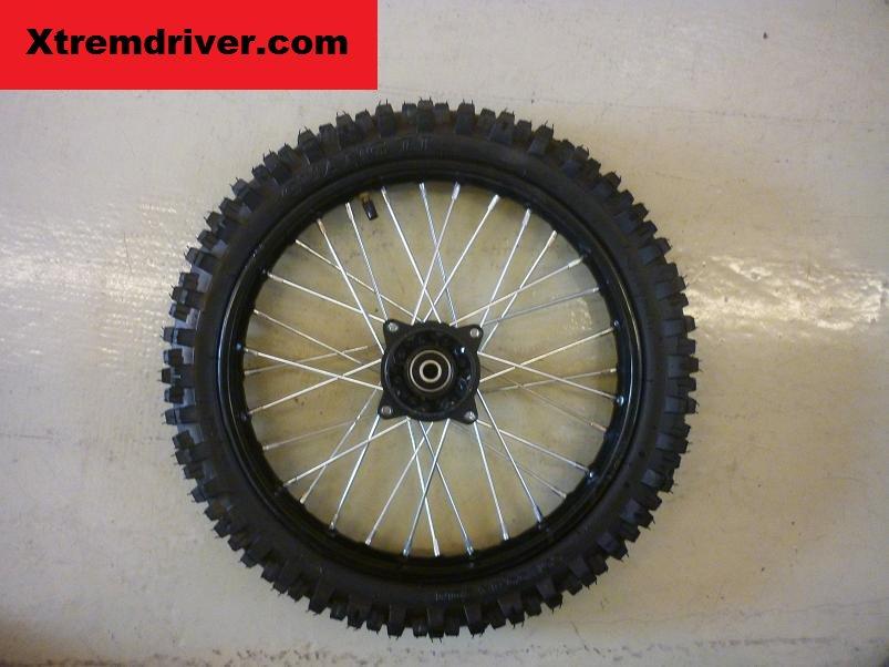 roue avant 14 pouces axe 12 dirt bike crf1 crf2. Black Bedroom Furniture Sets. Home Design Ideas
