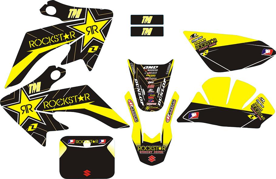 Stickers Rock Star Energy Jaune CRF50