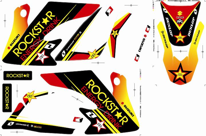 Stickers ROCK STAR ENERGY CRF50 Rouge