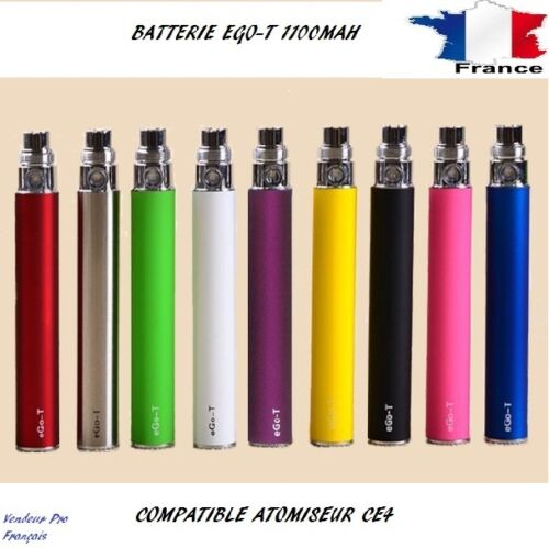 Original Batterie EGO-T Cigarette Electronique Réel 1100mAh (11 Coloris Dispo)